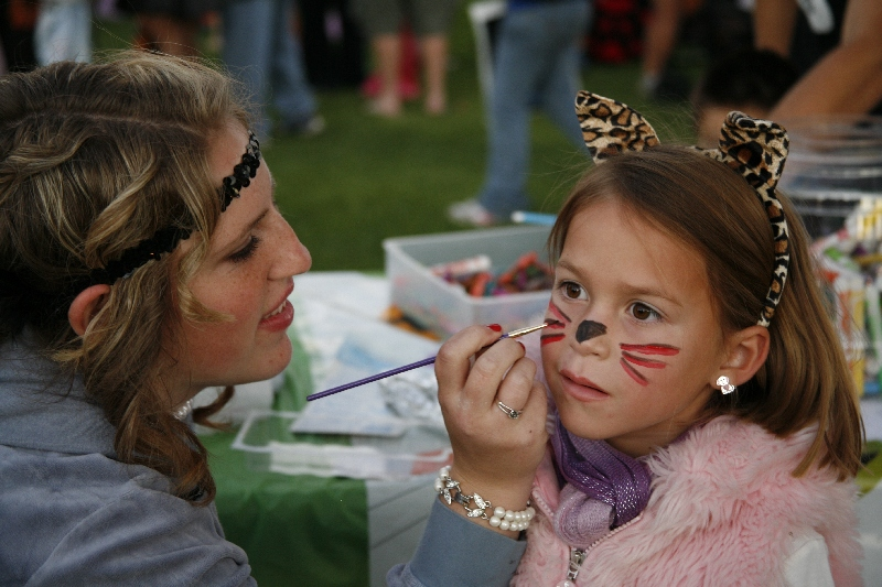Face Painting at the Annual Halloween Carnival, Grover Beach, CA