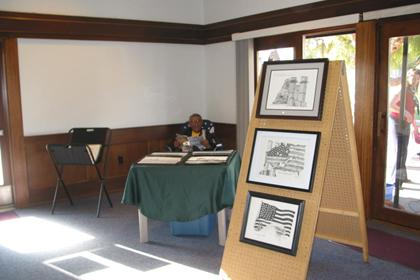 September 11 Memorial Artwork on Display