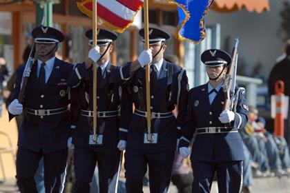 The Vandenberg Air Force Base Color Guard (Photo courtesy of Glenn Bolivar)