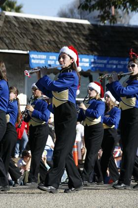 A local marching band at the Annual Holiday Parade - photo courtesy of Sam Greeley